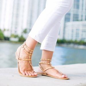 Betsy Johnson Rockstud Gladiator Sandals
